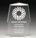 Corporate Crystal Rectangle Achievement Awards