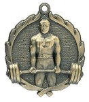 Wreath Medal -Weightlifting Male Body Building Trophy Awards