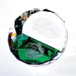 Duet Round Paperweight- Color Boss Gift Awards