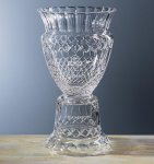 Honors Pedestal Trophy Glass   Crystal Cup Trophies