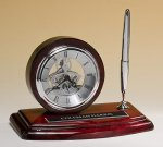 Piano-Finish Clock and Pen Set Sales Awards