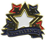 Bright Gold Educational Excellence Lapel Pin Scholastic Trophy Awards