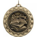 Spinner Medals -Reading  Scholastic Trophy Awards