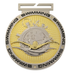 Dual Plated Medallion -Swimming Swimming Trophy Awards