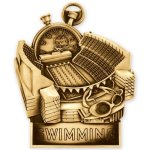 Standup Medal -Swimming  Swimming Trophy Awards
