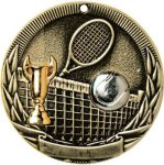 Tri-Colored Series Medals -Tennis Tennis Trophy Awards